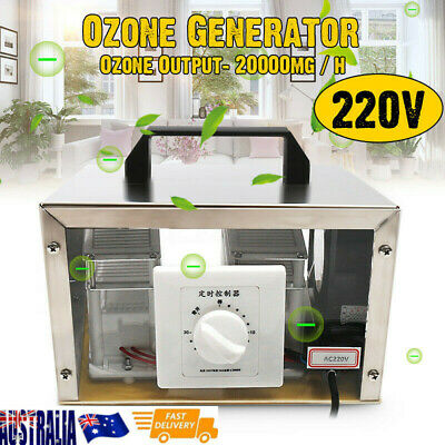 20g Ozone Generator Disinfection Machine Home Air Purifier AC 220V + Steel Cover