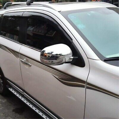 For Mitsubishi Outlander 2013-2015 Chrome Side Rearview Wing Mirror Cover Trim