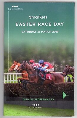 Haydock Park Race Card (book) Saturday 31 March 2018 Easter Race Day Used