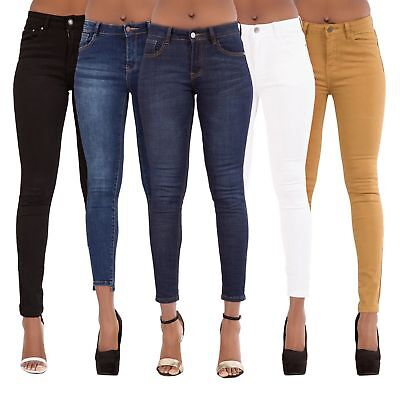 2827f5ba33 WOMEN'S SKINNY DENIM JEANS High Waist Trousers Sexy Stretch Pants SIZE 6-14  - $22.55 | PicClick
