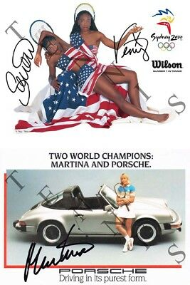Serena + Venus Williams + Martina Navratilova (DRUCK / PRINT)
