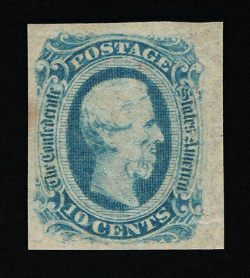 Genuine Confederate Csa Scott #12 Mint Og Blue Die-B Archer & Daly Printing