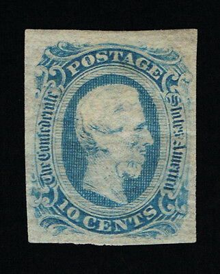 Genuine Confederate Csa Scott #12 Die-B Mint Ng Blue Archer & Daly Printing