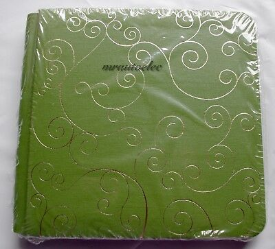 Creative Memories Lime Green with Gold Foil Swirls 7x7 Album Coverset