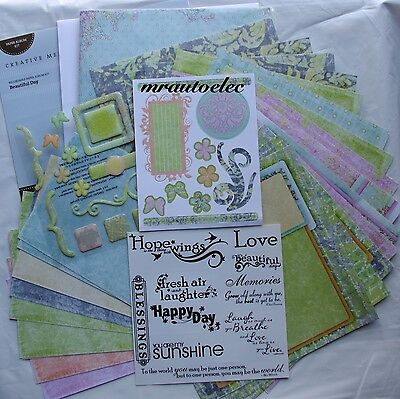 Creative Memories 6.5x6.5 Beautiful Day Paper Album Kit-Record your own Message