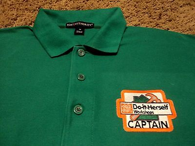 af53911bc NWOT The Home Depot Do-It-Herself Workshops Captain Polo Golf Shirt Medium  NEW