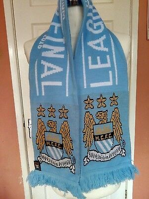 Manchester City League Cup Final 2016 Official MCFC Full Size Scarf