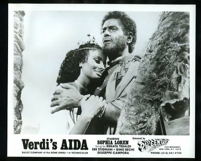 1953 SOPHIA LOREN & AFRO POLI In AIDA Vintage Original Photo TWO WOMEN EL CID gp