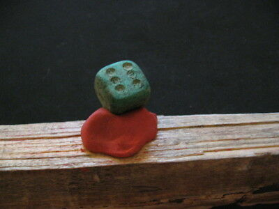 ANCIENT ROMAN BRONZE GAMBLING DICE 1-2 ct.AD
