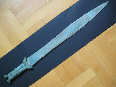 BRONZE AGE SWORD ANCIENT ILLYRIANS BRONZE WEAPON 1100-900 B.C. 67,5 cm