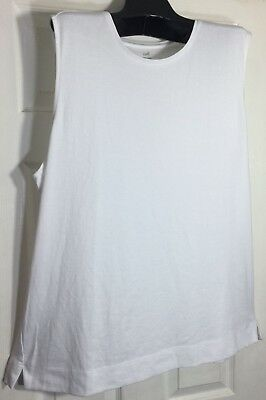 02ddf5ee4163b Brand New J Jill women size Large Tank top White Pima Cotton Scoop neck Knit