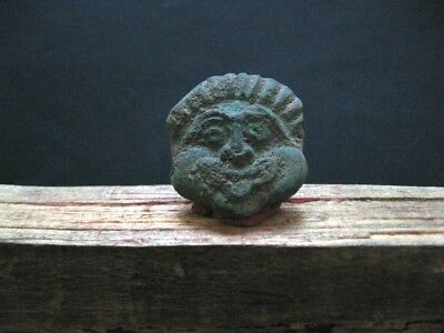 Demon Face Bronze Age Ancient Illyrians Bronze Ritual Amulet 1100-900 B.c.