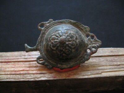 Ornamented Sun Belt Buckle Ancient Celtic Bronze Warriors Decoration 300-100 Bc.
