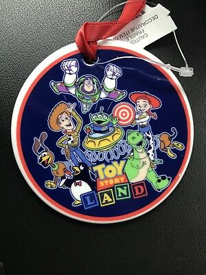 Disney Toy Story Land Opening Day Christmas Ornament Passholder In Hand