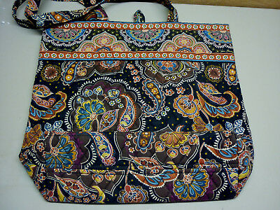 Vera Bradley Kensington Tote Black Brown Paisley