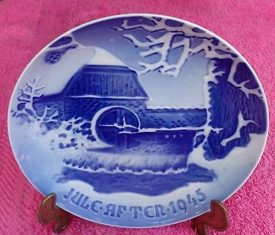 """1945 Bing & Grondahl Christmas Plate - """"The Old Watermill"""""""