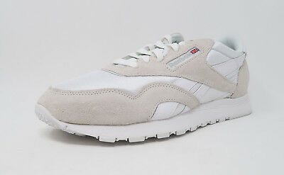 630ca2f3a1f Reebok Men Shoes Classic Nylon White  Light Grey 6390 Size 8 Sneakers  2446