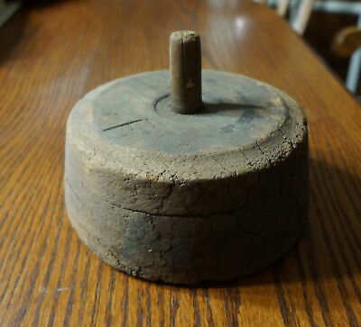 Rare Antique Hat Makers SPINNER to use beneath Bottom Board Hatters