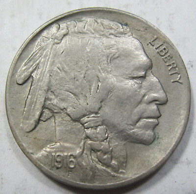 1916 choice uncirculated Buffalo / Indian Head nickel collector coin  (#430c)