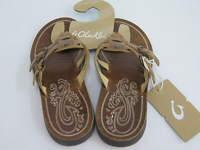 2058cd3894f1 OLUKAI BROWN LEATHER Sandals Honoka a Sahara -  49.95
