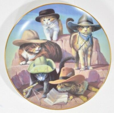 Kitty Cat Cowboys Collector Plate The Dalton Gang Hadley House Wild West 1994