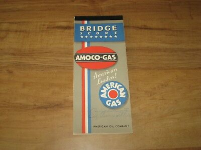 Vintage Amoco Gas Bridge Score Book