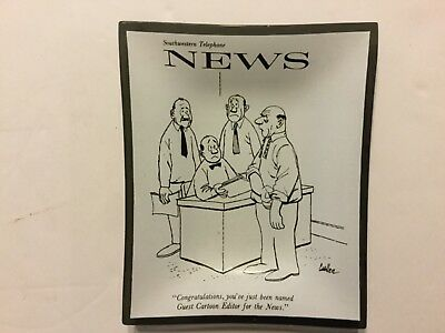 Southwestern Telephone News Smoke Glass Tray Humor Houze? 4-3/4 x 4 Inches