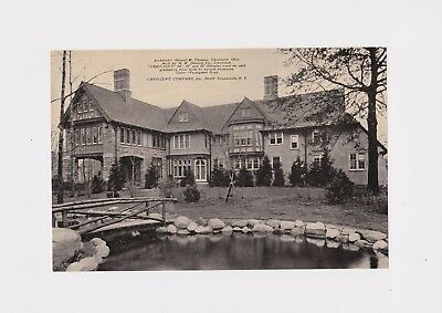 1930's Cleveland Oh Mansion Advertising Creo-Dipt Shingles Architects Howell Th