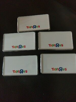 Brand New Employee Toys R Us Magnetic Name Tags Badges Lot Of 5 Rare