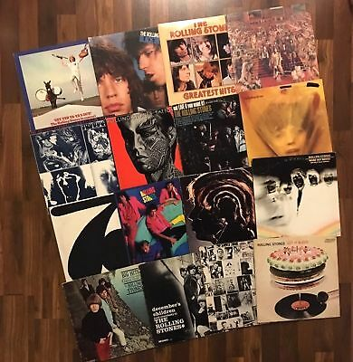 THE ROLLING STONES LP LOT - LET IT BLEED/EXILE ON MAIN STREET/HOT ROCKS original