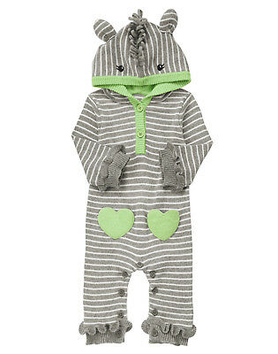7d9b93e103d5 NWT Crazy 8 Lil Zebra Hooded Sweater Romper 1PC 6-12 Months Baby Girl