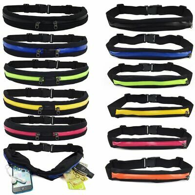 Waterproof Running Hiking Sport Bum Bag Travel Money Phone Belt Waist Zip Pouch