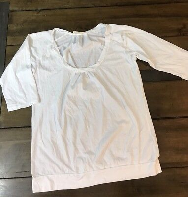 Under The Canopy Women's 100% Organic Cotton 3/4 Sleeve Tee Shirt Size Small