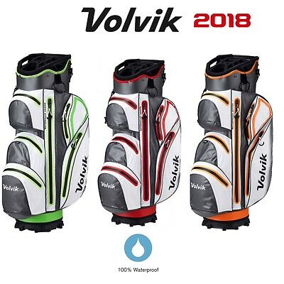 Volvik Vibe Waterproof 14 Way Divider Deluxe Golf Cart Trolley Bag All Colours