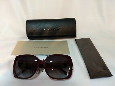 Women's Plumb Colored Burberry Sunglasses  58/135 BE4160 New w/Box Tags