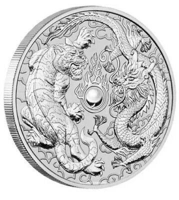 2018 Dragon and Tiger 1oz Silver Bullion Coin - PENNY5 Coupon For 5% Off!