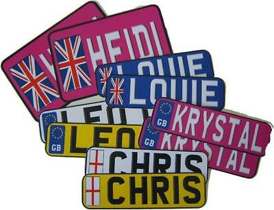 Extra Small - Kids Car/Baby Buggy/Walker Number Plate Novelty - Single Plate