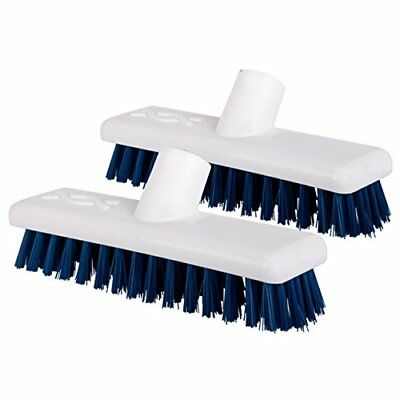 The Chemical Hut 2 Pack Of Blue Stiff Bristled Deck Sweeping Brush Heads For Dec