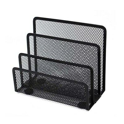 Mesh Metal Desktop Organizer Books Document Magazine File Rack for Classroom Use