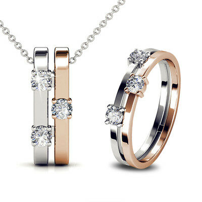 2f4d75d27 My Crystal Story Necklace And Ring Set Ft. Crystal From Swarovski  Kcts556Dt2-7