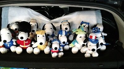 14 MetLife SNOOPY Peanuts Plush Lot Stuffed Animal Dog All Different & Complete