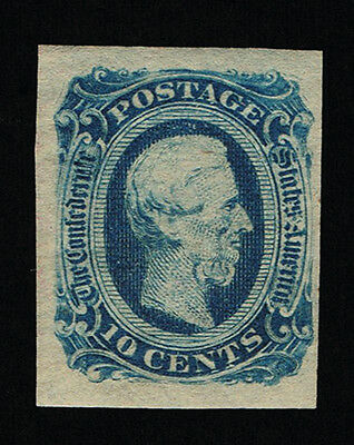 GENUINE CONFEDERATE CSA SCOTT #12d MINT OG DIE-B DARK BLUE ARCHER DALY PRINTING