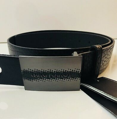 NEW ARMANI EXCHANGE Mens TONAL LOGO PLAQUE BELT -  59.99   PicClick 52edc172425