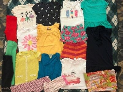 Girls summer LOT*tops*shorts*dress*pants  size 6-8 Crewcuts Tea Collection