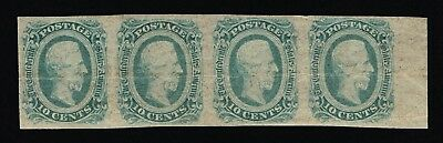 GENUINE CONFEDERATE CSA SCOTT #12e STRIP OF 4 GREEN MINT OG DIE-B ARCHER DALY