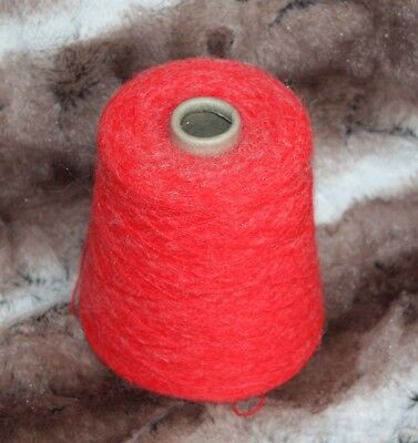 1 cone Hand or Machine Knitting 4ply Yarn in Christmas Red Total weight 460g