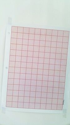 JOMA Graph Paper 2mm Grid Sheets (50Pages) A4 8.5 x 11 magenta 1 pt Lines NEW