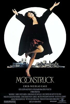 """Moonstruck"" ..Cher.. Nicholas Cage..Classic Romcom Movie Poster Various Sizes"