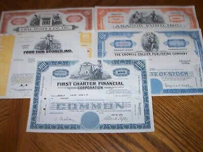 Lot of 5 Different Stock Certificates.Nice Vignettes.L13