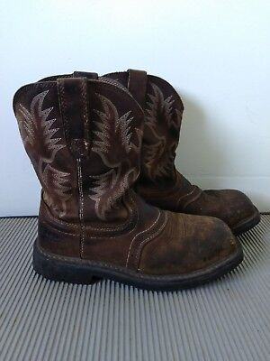 a192fa28637 ARIAT MEN'S SIERRA Wide Square Steel Toe Work Boots 10010134 ...